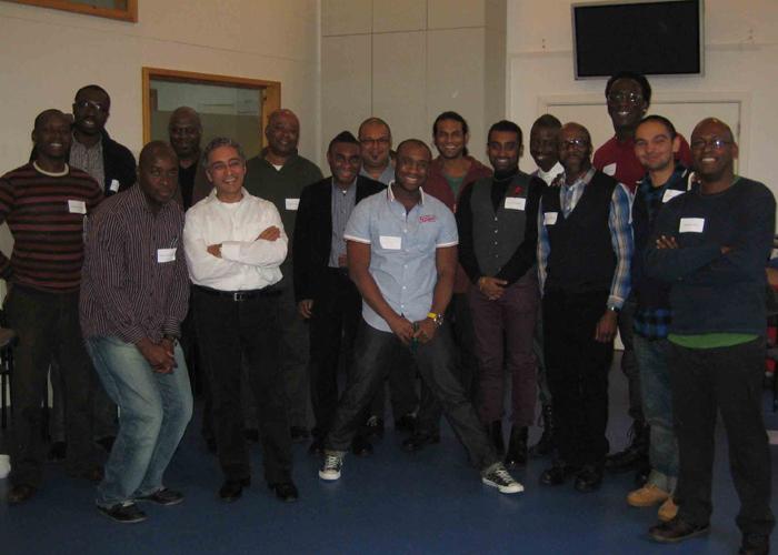 Black and Asian Men's gathering group shot